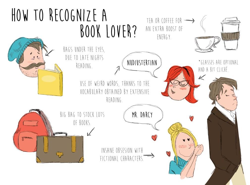 book lover illustration