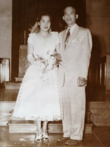 My parents' wedding in the Philippines, May 11, 1957.