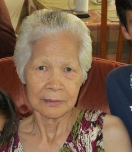 Celebrating her 85th birthday with her grandchildren, Folsom, CA, June 25, 2011.
