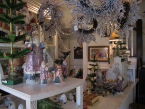 It's still Christmas at Good Goods, but Valentine's Day decorations will be up in no time.