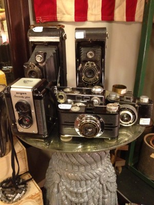 Lots of vintage cameras to choose from.