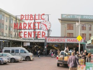 In search of Sunday brunch at Pike Place Market.