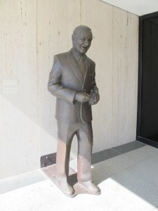 A statue of LBJ greets you at the entrance of his library and museum.