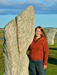 Laurel at Callanish, Scotland.
