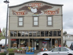 Nasty Jack's Antiques' impressive building.
