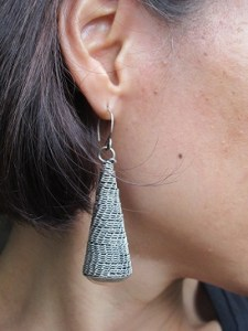 Bold and beautiful earrings handmade by Miao Chinese artisans.