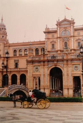 Plaza Espana in Parque Maria Luisa, Sevilla, Spain.