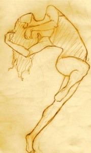 Tana captures the fluidity of dancers in her sketches.