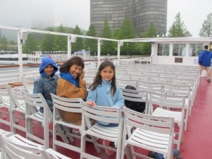 The few brave souls to take the river cruise on a cold June morning.