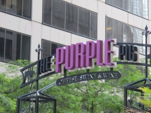 The Purple Pig is tucked away from N. Michigan Avenue.