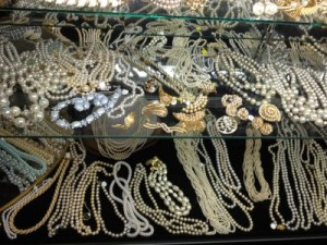 Strands of pearls at Vintage Underground.