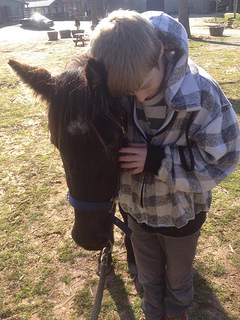 Barn Buddies pairs rescued ponies with foster and adopted kids (courtesy of The Pollination Project).