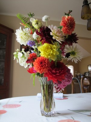 Mid-August blooms still look great for this auction bouquet.