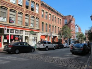 Beautiful downtown Portland, Maine.