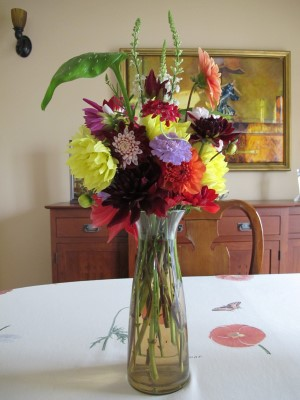 A bouquet for the winning bidder of my Portola Middle School auction donation.