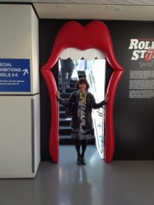 Entering the Rolling Stones exhibit!