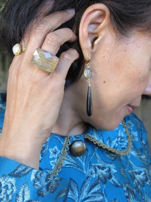 Earrings from Portland, ME, Sundance rings and Lava 9 chunky ring (Berkeley, CA).