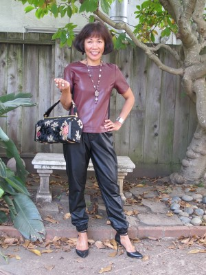 Grab a vintage floral handbag (Secondi, Washington, DC), and I'm all set.
