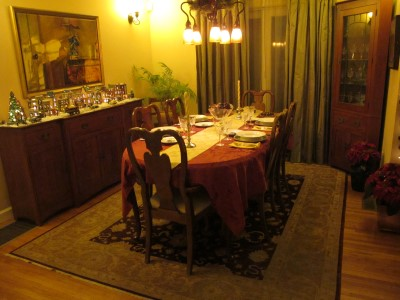 Time for a holiday dinner. Decking the halls inspires us to entertain.