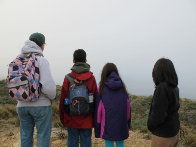 Whale watching and reflection at Point Reyes National Seashore.
