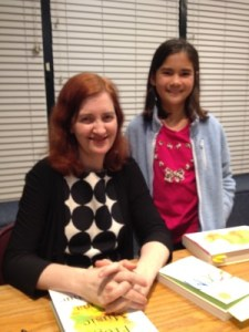 Emma Donoghue graciously allowed me to take a picture of her with Isabella.