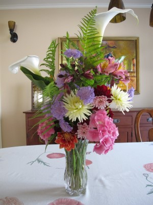 A late May bouquet, the front side.