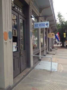Vintage shops dot N. Third Street and other nearby streets in Old City District.