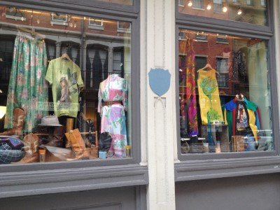 Colorful storefront displays.