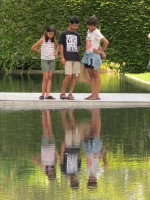 Reflecting before entering the Barnes Foundation.