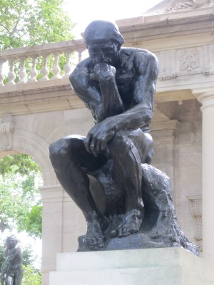 The Thinker at the museum's front gate.