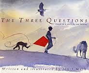 The cover of Jon J Muth's book, The Three Questions.
