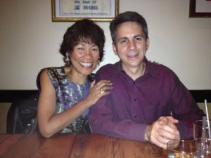 Celebrating our anniversary at Tratoria Corso, Berkeley, September 2014. David believes in supporting local organizations. I believe in big hearts.