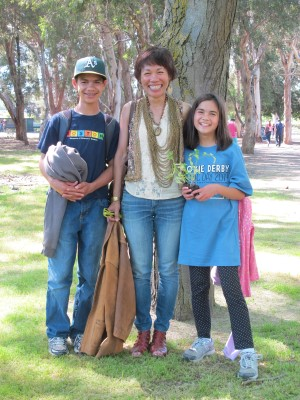 Turning the kids into Aggies on Picnic Day at UC Davis, April 2014.