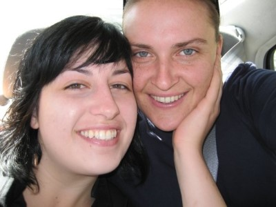 Making a great team in life and work, Sirona and Sinead in 2007.