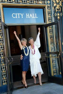 Jeanne and her wife Pali Cooper - being 'unassailable.'