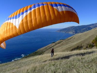 Paragliding at Big Sur.