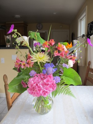 And the other bouquet for Korematsu Middle School's auction bouquet winner.
