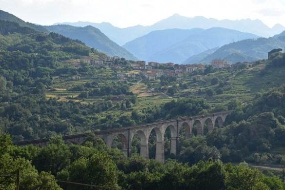 David's amazing photograph of an amazing train bridge on our return from Castelnuovo di Garfagnana to Piazza al Serchio.