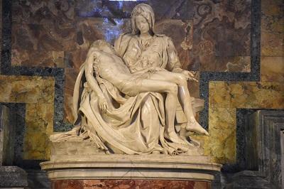 La Pieta, taking everyone's breath away.