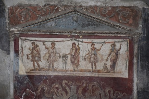 A well-preserved fresco in a house in Pompeii.