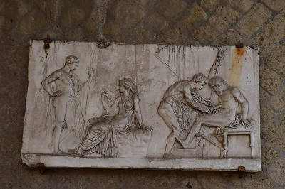 A marble frieze.