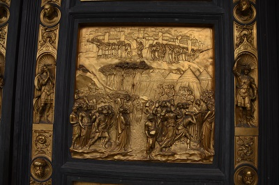 The Baptistery doors, which Michelangelo said were fit to be the gates of paradise, are a copy of Lorenzo Ghiberti's bronze doors.