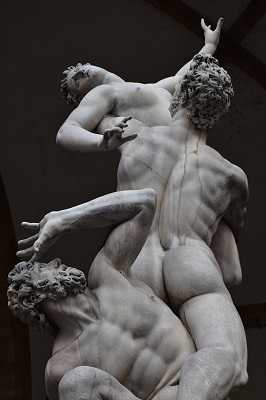 The Rape of the Sabine Women by Giambologna.