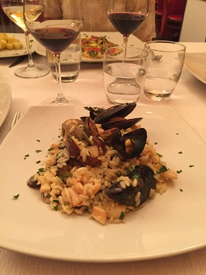 My seafood risotto.