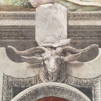 Fun detail of a goat in one of the paintings at the Palazzo Vecchio.