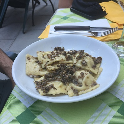 David's tortelli with truffles, which was very fragrant and delicious.