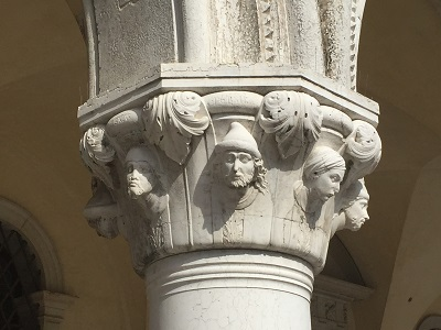 Detail from a column in San Marco Square.