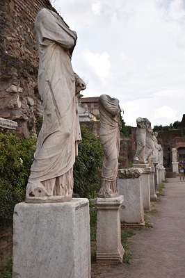 My favorite area of the Forum - the Vestal Virgins.