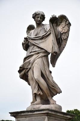 Statue on the bridge over the Tiber River.
