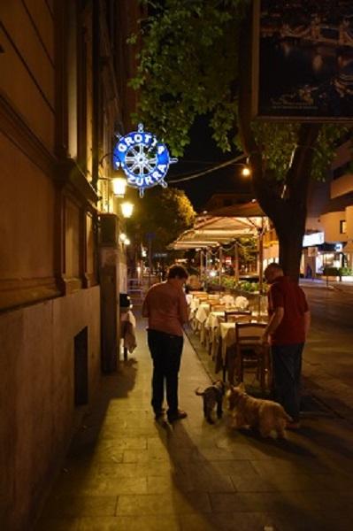 A favorite restaurant for both families - Grotta Azzurra.